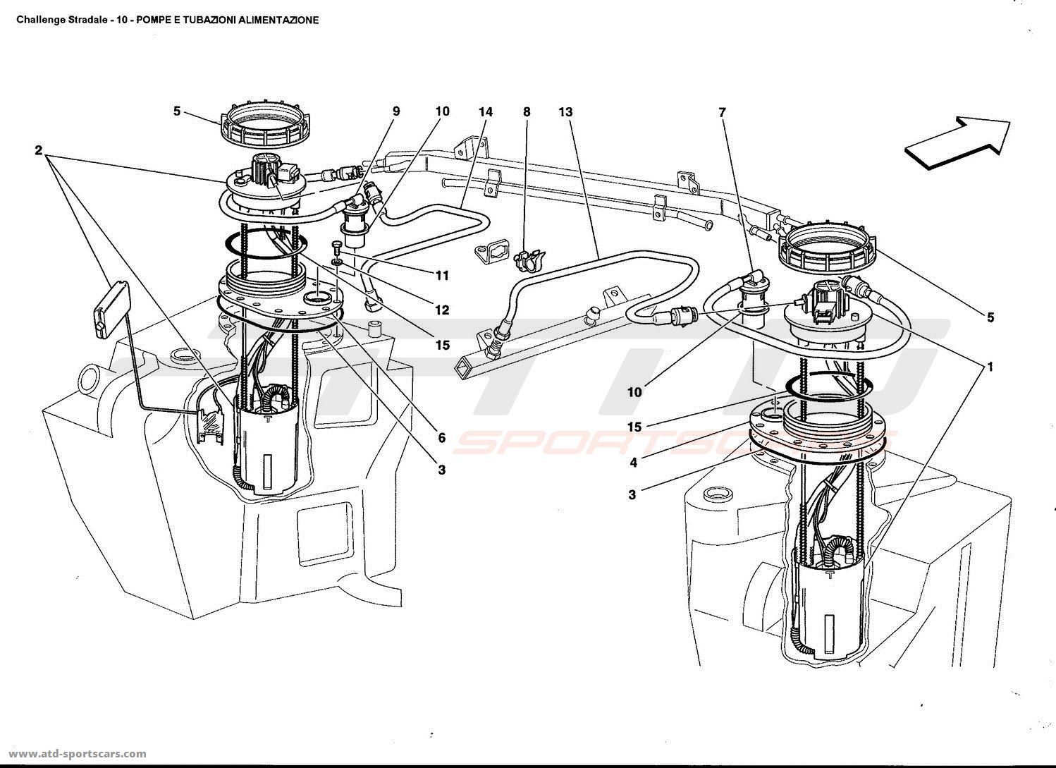 Ferrari 360 Challenge Stradale Air Intake Fuel Parts At Atd Wiring Diagrams Pumps And Pipes