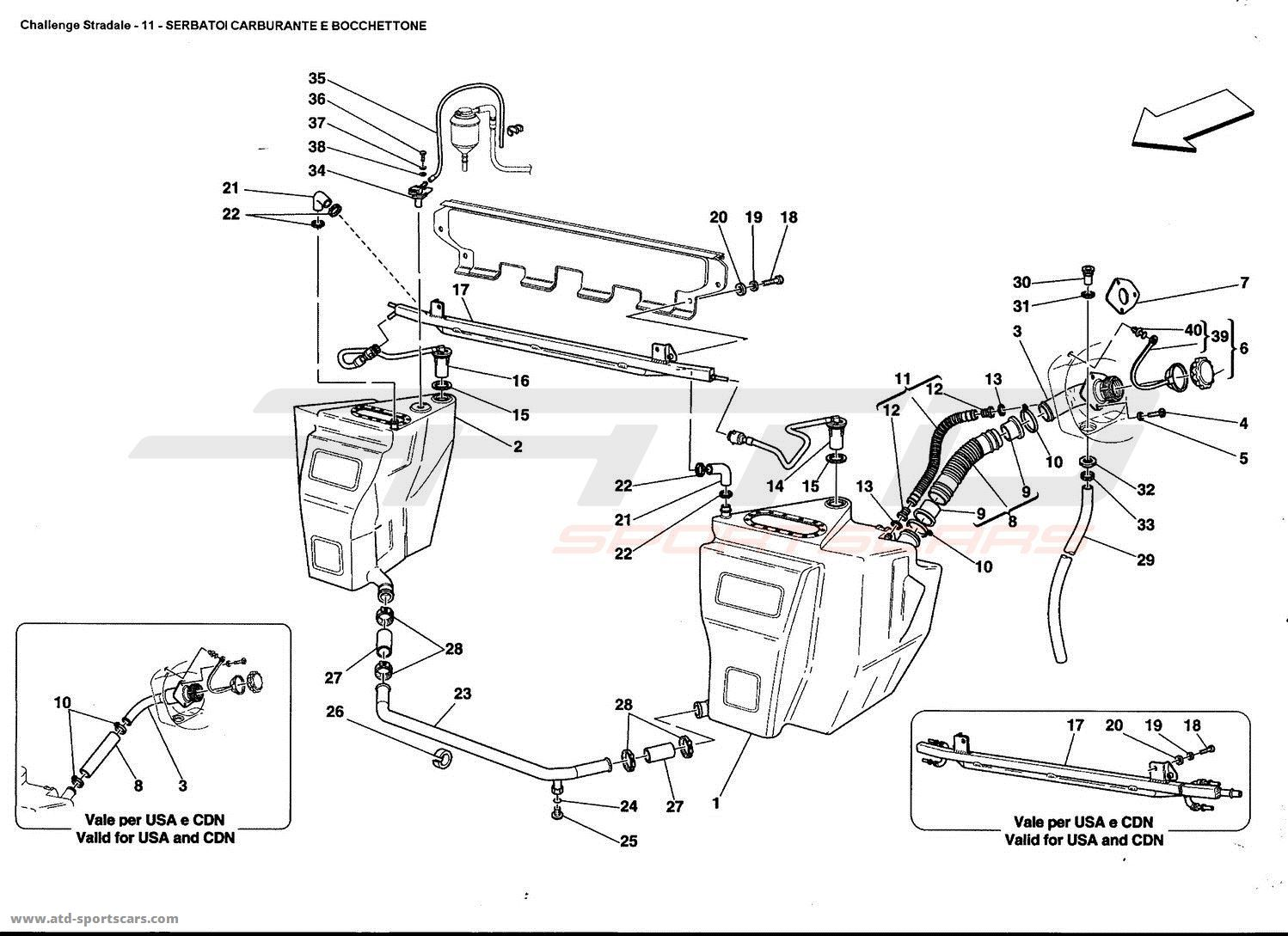 Ferrari 360 Challenge Stradale Air Intake Fuel Parts At Atd Wiring Diagrams 4 Tanks And Union