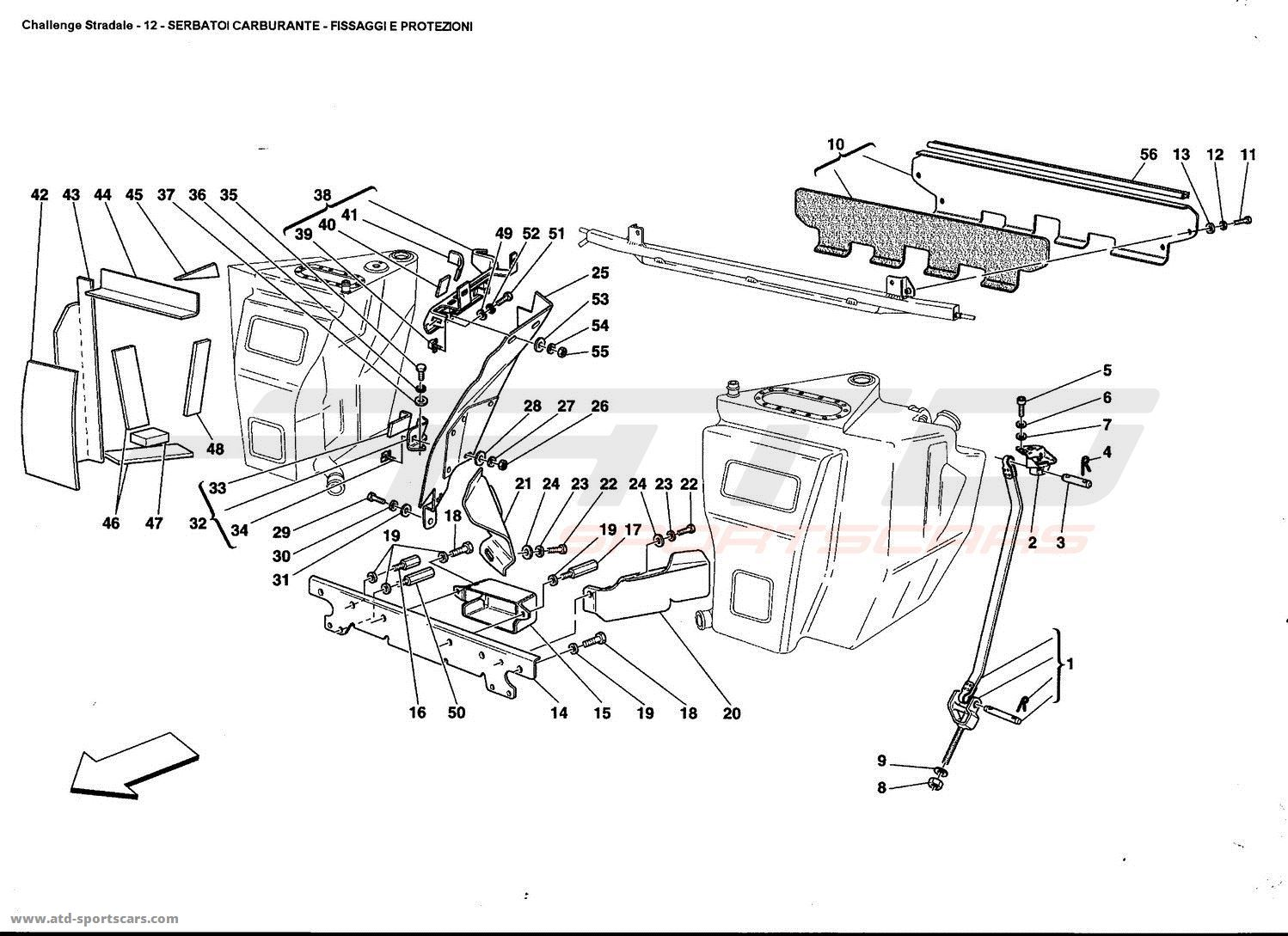Ferrari 360 Challenge Stradale Air Intake Fuel Parts At Atd Wiring Diagrams 5 Tanks Fixing And Protection