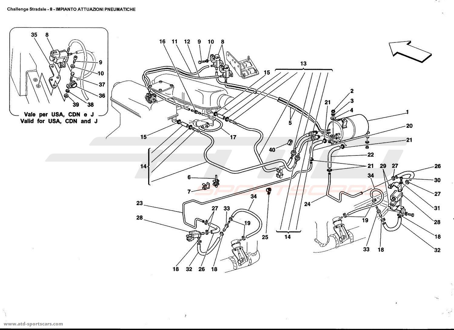 Ferrari 360 Challenge Stradale Air Intake Fuel Parts At Atd Wiring Diagrams Pneumatics Actuator System