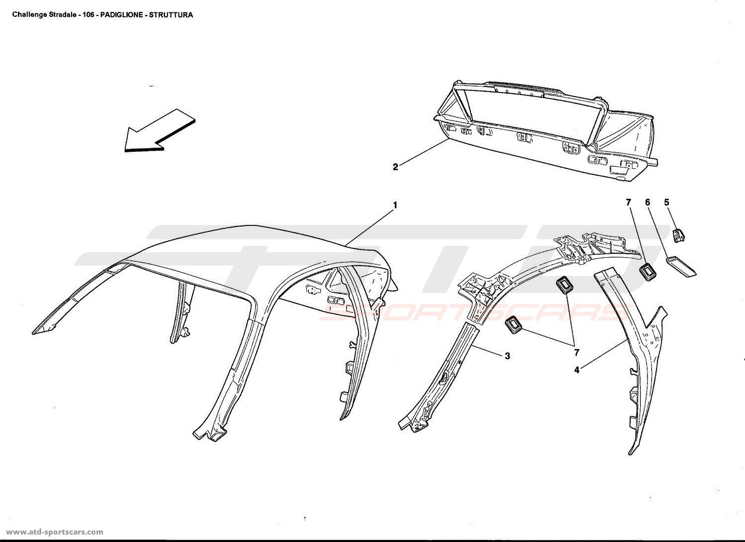 Ferrari 360 Challenge stradale ROOF - STRUCTURE