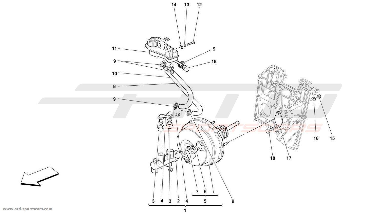 Ferrari 360 Challenge BRAKES HYDRAULIC CONTROLS