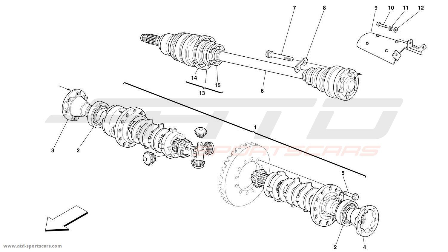 Ferrari 360 Challenge DIFFERENTIAL AND AXLE SHAFTS