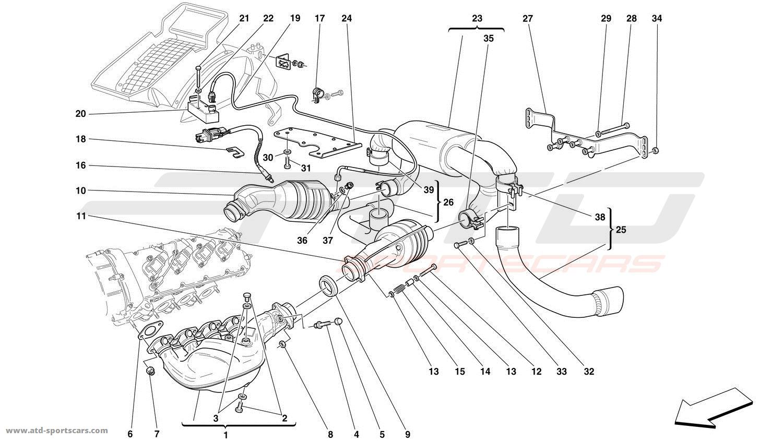 Ferrari 360 Challenge EXHAUST SYSTEM