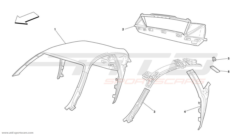 Ferrari 360 Challenge ROOF - STRUCTURE