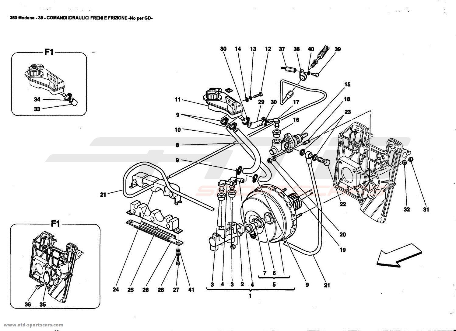 BRAKES AND CLUTCH HYDRAULIC CONTROLS