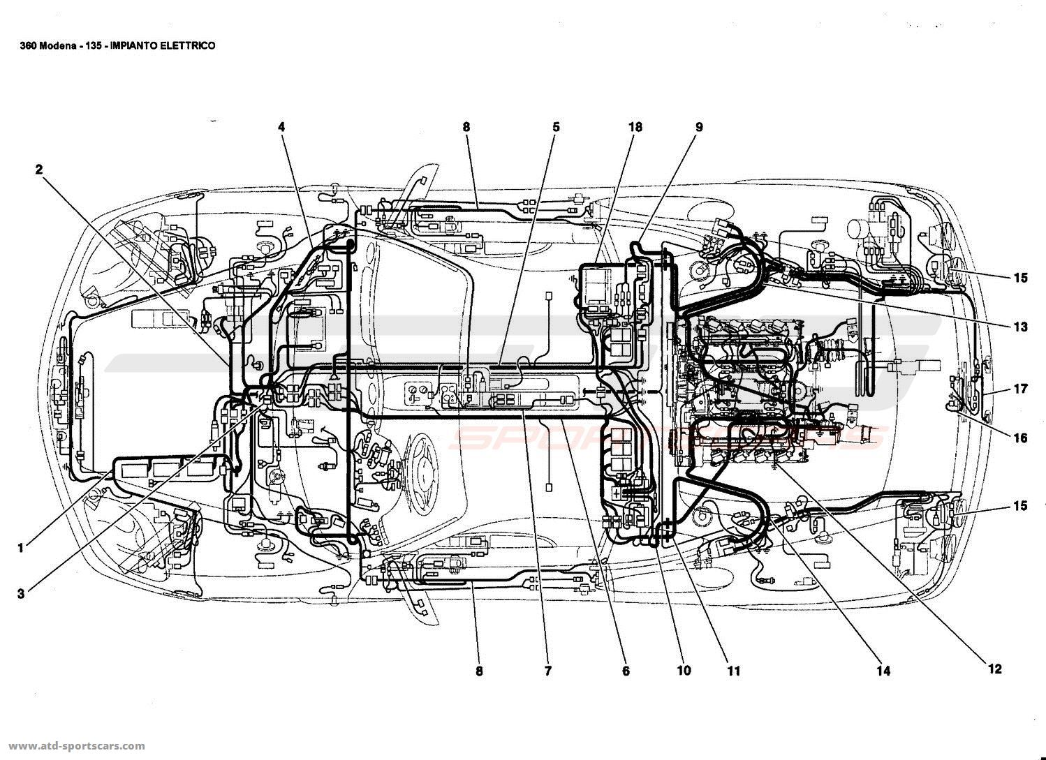 ferrari 360 modena electrical system parts at atd