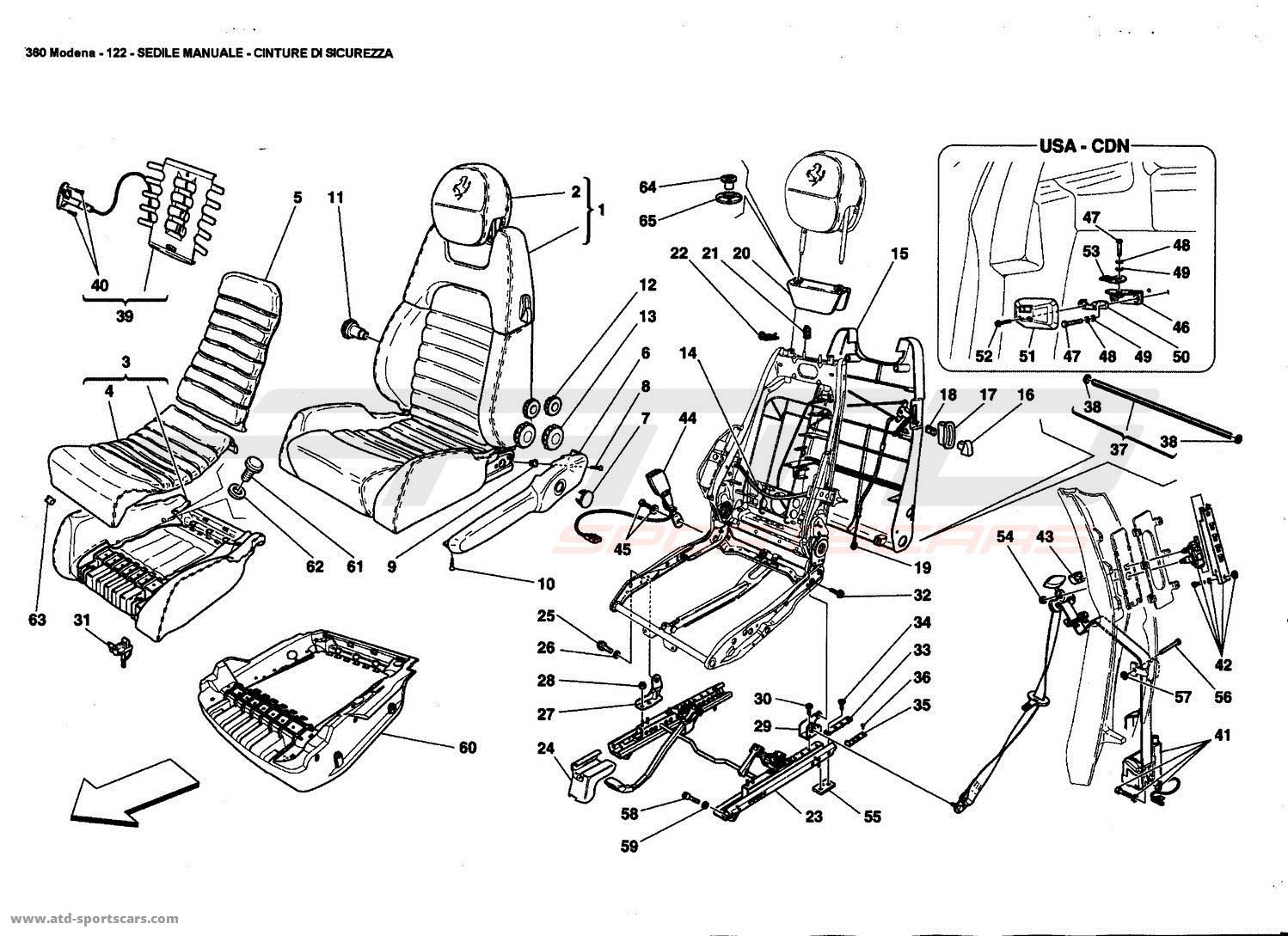 MANUAL SEAT - SAFETY BELTS
