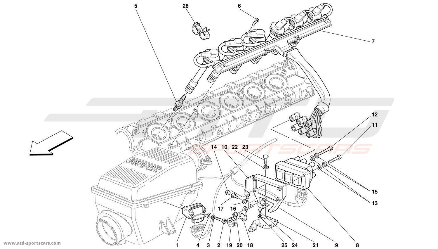 ferrari 360 engine diagram