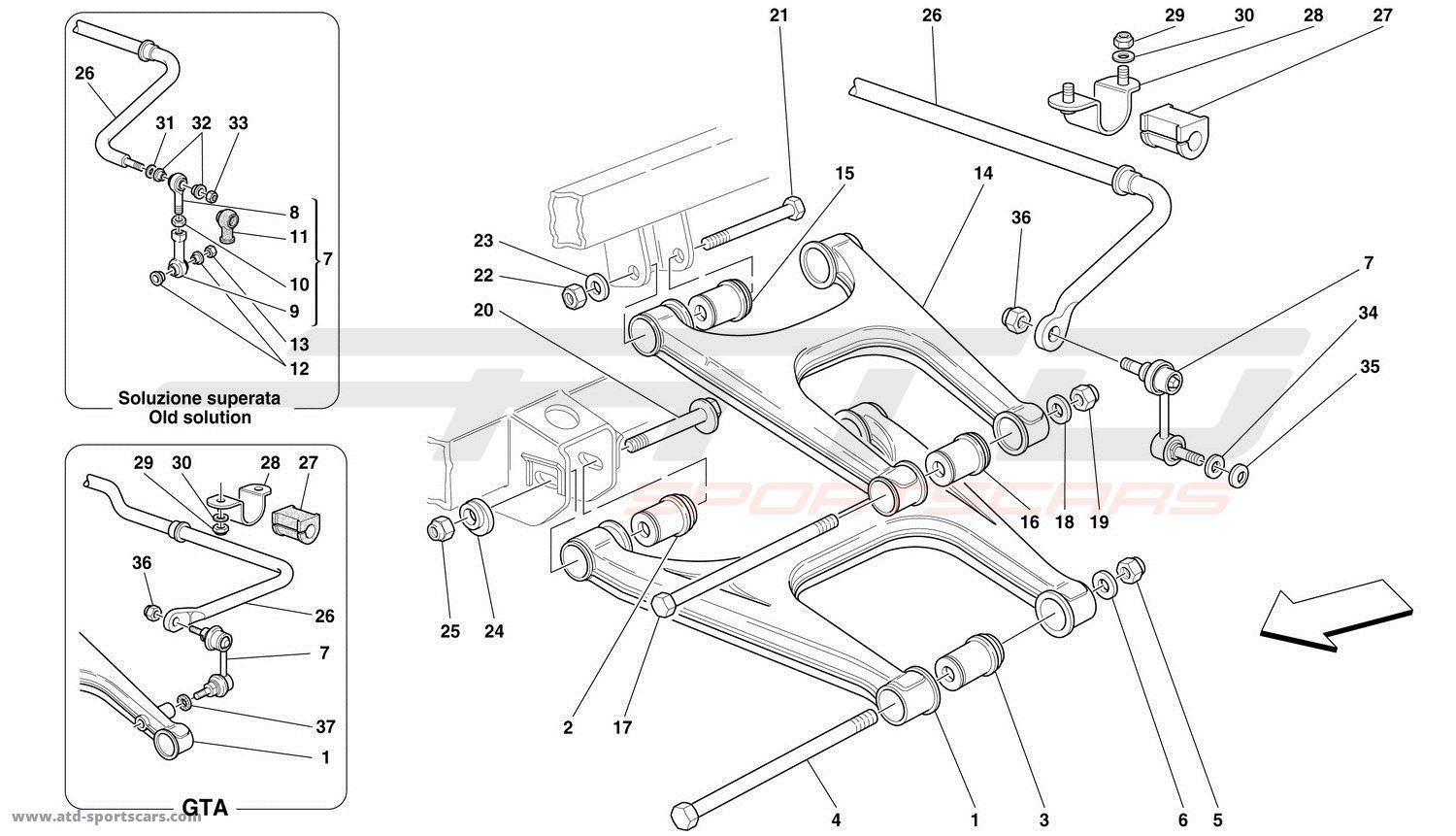 REAR SUSPENSION - WISHBONES AND STABILIZER BAR