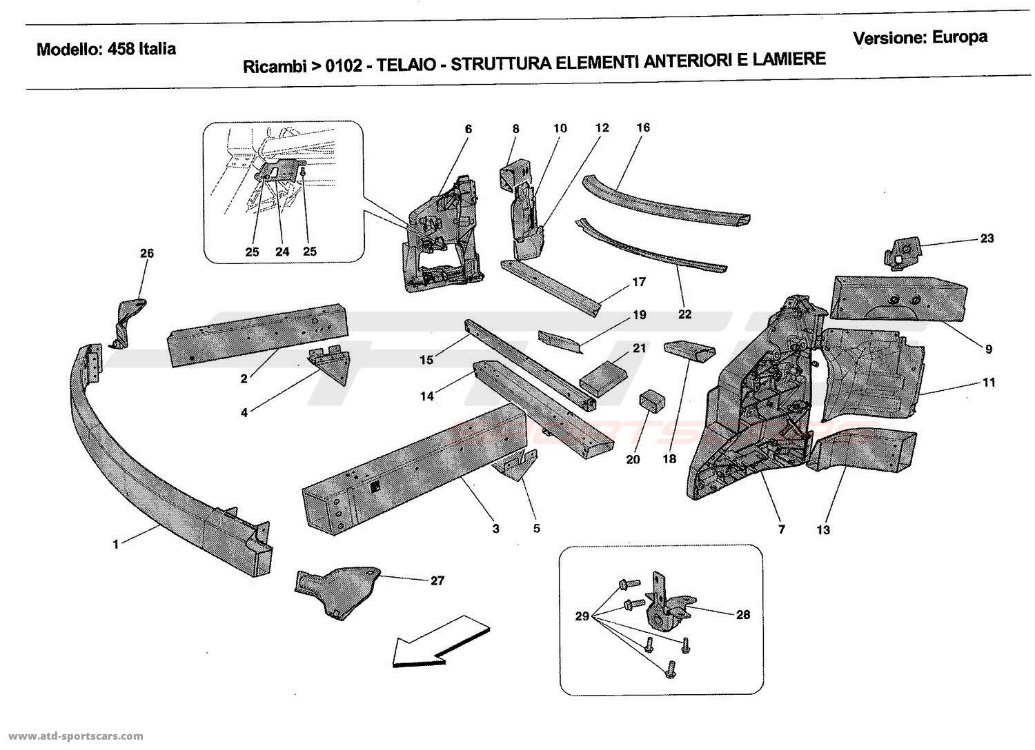 CHASSIS - STRUCTURE, FRONT ELEMENTS AND PANELS