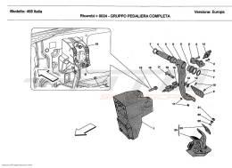 Ferrari 458 Italia COMPLETE PEDAL BOARD UNIT