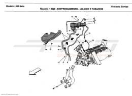 Ferrari 458 Italia COOLING - HEADER TANK AND PIPES