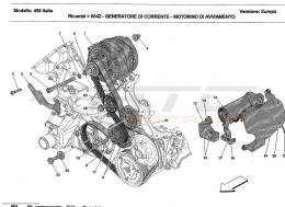 Ferrari 458 Italia CURRENT GENERATOR - STARTING MOTOR