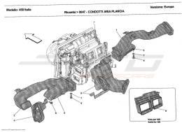 Ferrari 458 Italia DASHBOARD AIR DUCTS