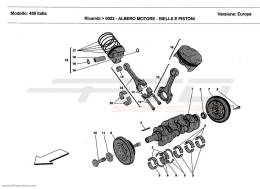 Ferrari 458 Italia DRIVING SHAFT - CONNECTING RODS AND PISTONS
