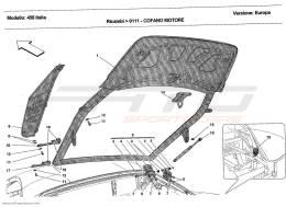 Ferrari 458 Italia ENGINE BONNET