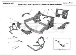 Ferrari 458 Italia FRAME - COMPLETE FRONT PART STRUCTURES AND PLATES