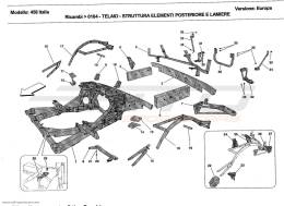 Ferrari 458 Italia FRAME - REAR ELEMENTS STRUCTURES AND PLATES