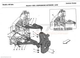 Ferrari 458 Italia FRONT SUSPENSION - WISHBONES