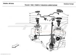 Ferrari 458 Italia FUEL PUMPS AND PIPES