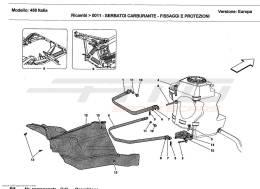 Ferrari 458 Italia FUEL TANKS - FIXING AND PROTECTION
