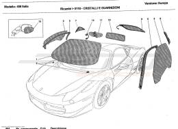 Ferrari 458 Italia GLASSES AND GASKETS