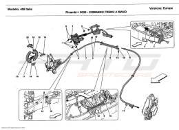 Ferrari 458 Italia HAND-BRAKE CONTROL