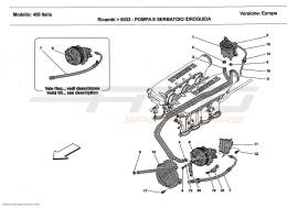 Ferrari 458 Italia HYDRAULIC STEERING PUMP AND TANK