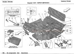 Ferrari 458 Italia PASSENGERS COMPARTMENT CARPETS