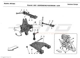 Ferrari 458 Italia REAR SUSPENSION - WISHBONES
