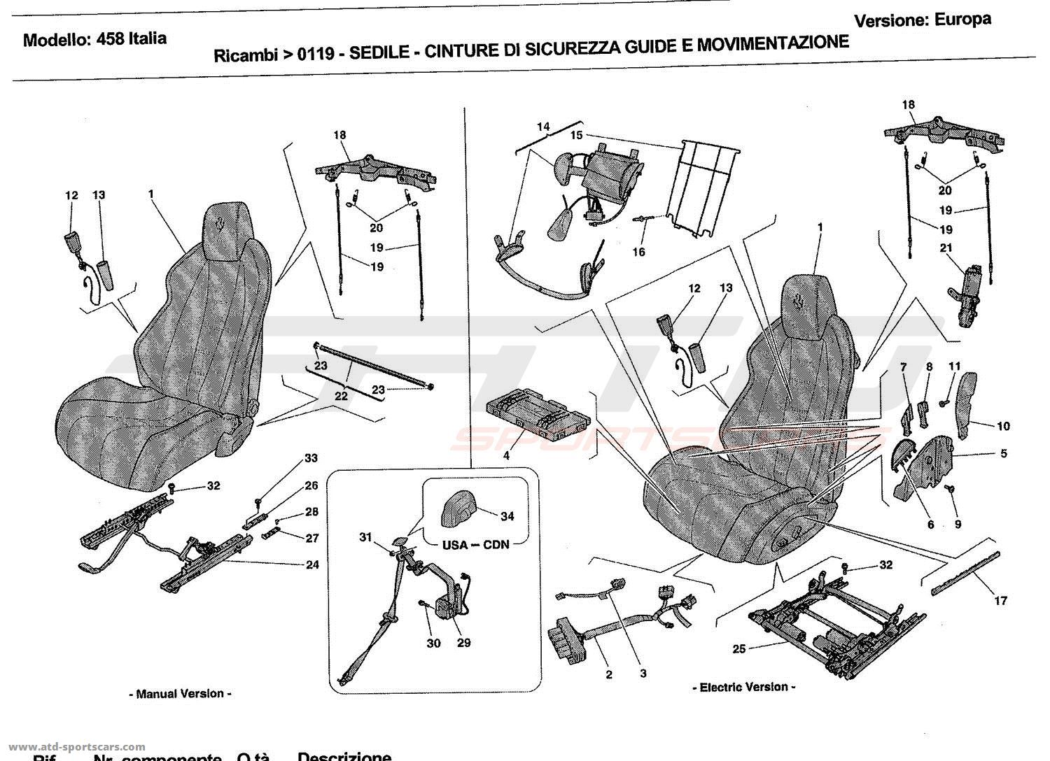 SEATS - SEAT BELTS, GUIDES AND ADJUSTMENT