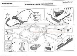 Ferrari 458 Italia SHIELDS - OUTSIDE FINISHING
