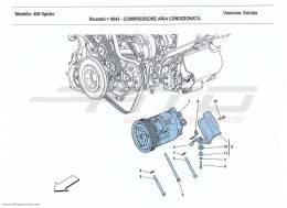 Ferrari 458 Spider AC SYSTEM COMPRESSOR