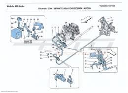 Ferrari 458 Spider AC SYSTEM - WATER