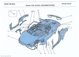 Ferrari 458 Spider BODYSHELL - EXTERNAL TRIM