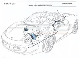 Ferrari 458 Spider BRAKE SERVO SYSTEM