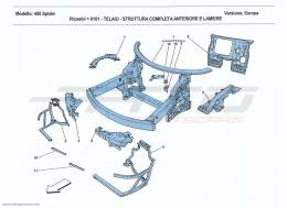 Ferrari 458 Spider CHASSIS - COMPLETE FRONT STRUCTURE AND PANELS
