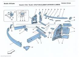 Ferrari 458 Spider CHASSIS - STRUCTURE, FRONT ELEMENTS AND PANELS