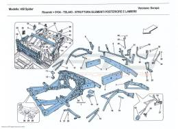Ferrari 458 Spider HASSIS - STRUCTURE, REAR ELEMENTS AND PANELS