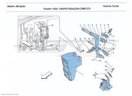 Ferrari 458 Spider COMPLETE PEDAL BOARD ASSEMBLY