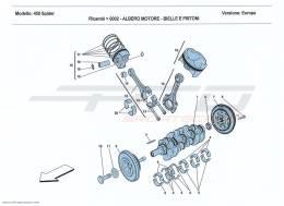 Ferrari 458 Spider CRANKSHAFT - CONNECTING RODS AND PISTONS