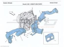 Ferrari 458 Spider DASHBOARD AIR DUCTS
