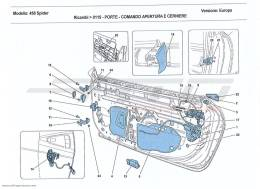 Ferrari 458 Spider DOORS - OPENING MECHANISM AND HINGES