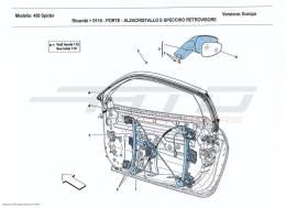 Ferrari 458 Spider DOORS - POWER WINDOWS AND REAR-VIEW MIRROR