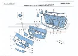 Ferrari 458 Spider DOORS - SUBSTRUCTURE AND TRIM
