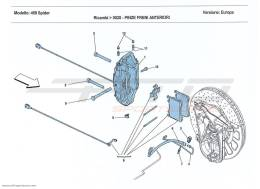 Ferrari 458 Spider FRONT BRAKE CALLIPERS