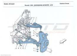 Ferrari 458 Spider FRONT SUSPENSION - ARMS