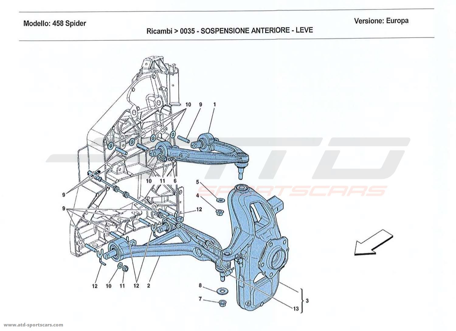 FRONT SUSPENSION - ARMS