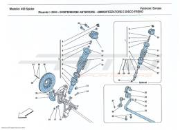 Ferrari 458 Spider FRONT SUSPENSION - SHOCK ABSORBER AND BRAKE DISC